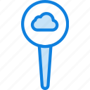 add, cloud, location, map, navigation, pin, to icon