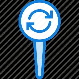 location, map, navigation, pin, sync icon