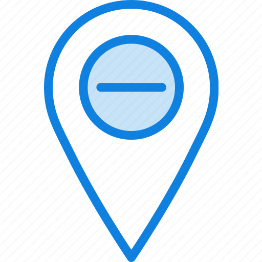 location, map, navigation, pin, substract icon