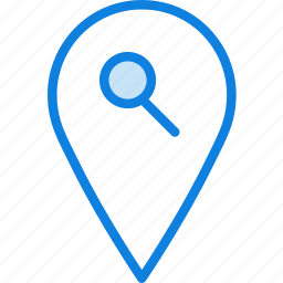 location, map, navigation, pin, search icon