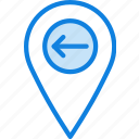 location, map, navigation, pin, upload icon