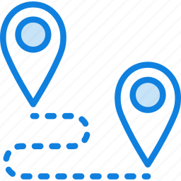 map, navigation, pin, roadmap icon