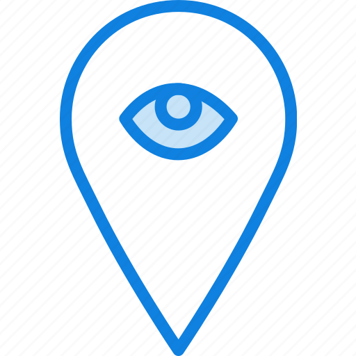 hide, location, map, navigation, pin icon