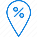 discount, location, map, navigation, pin icon
