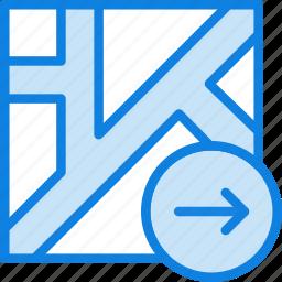 download, map, navigation, pin icon