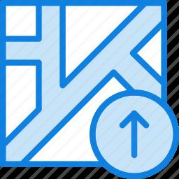 map, navigation, pin, upload icon