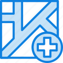 hospital, map, navigation, pin icon