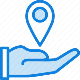 give, location, map, navigation, pin icon