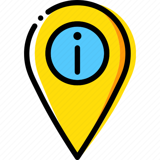 information, location, map, navigation, pin icon