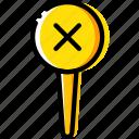 delete, location, map, navigation, pin