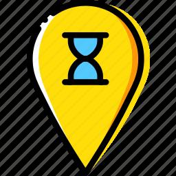 loading, location, map, navigation, pin icon