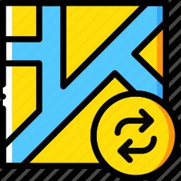 map, navigation, pin, refresh icon