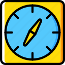 compass, map, navigation, pin icon