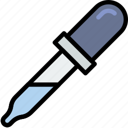 chemistry, dropper, laboratory, research, science icon