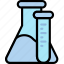 chemistry, laboratory, research, science, tubes icon