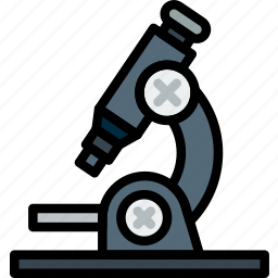 chemistry, laboratory, microscope, research, science icon