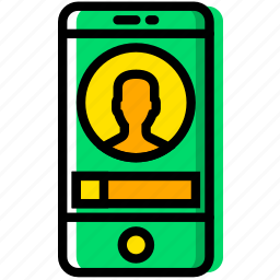 communication, essential, interaction, phone, profile icon