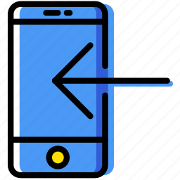 communication, download, essential, interaction, phone icon