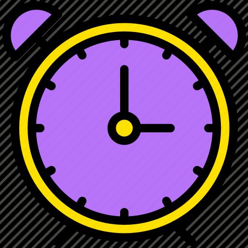 alarm, clock, communication, essential, interaction icon