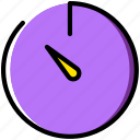 communication, essential, interaction, stopwatch icon