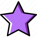 communication, essential, interaction, star icon