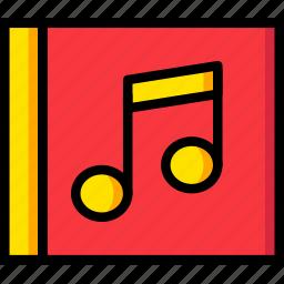 album, communication, essential, interaction icon