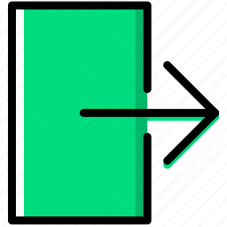 communication, essential, exit, interaction icon