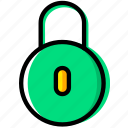 communication, essential, interaction, locked icon