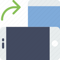 communication, essential, interaction, portrait, rotate icon