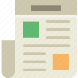 communication, essential, interaction, newspaper icon