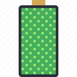 battery, communication, essential, full, interaction icon
