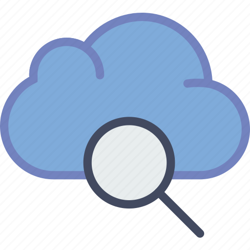 cloud, communication, essential, interaction, search icon
