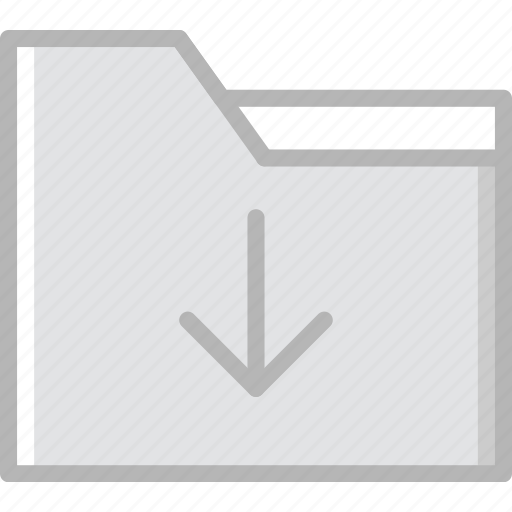 communication, download, essential, folder, interaction icon