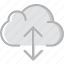 cloud, communication, essential, interaction, transfer icon