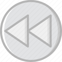 backward, communication, essential, fast, interaction icon