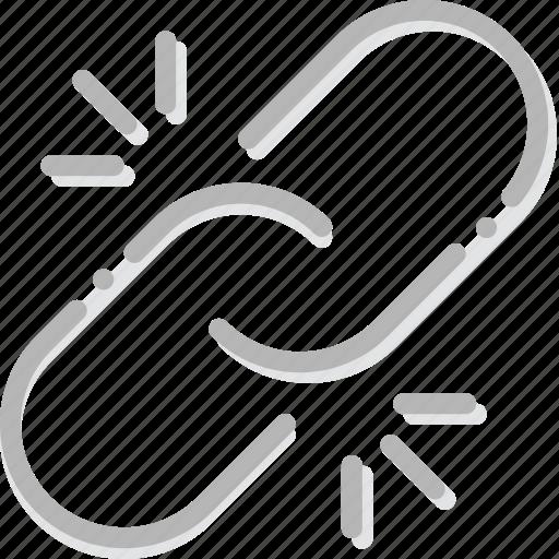 broken, communication, essential, interaction, link icon