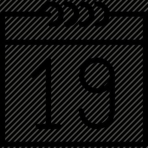 calendar, communication, date, essential, interaction icon