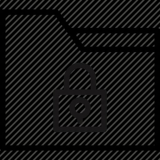 communication, essential, folder, interaction, lock icon