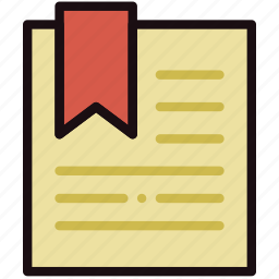 bookmark, communication, essential, file, interaction icon