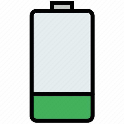 battery, communication, essential, interaction, low icon