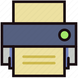 communication, essential, interaction, print icon