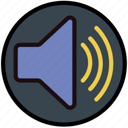 communication, essential, high, interaction, volume icon