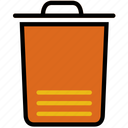 bin, communication, essential, interaction, trash icon