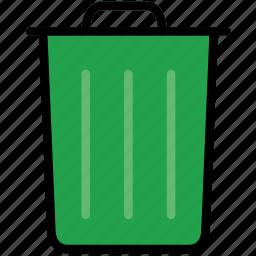 bin, communication, essential, interaction, trash icon