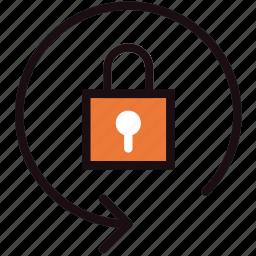 communication, essential, interaction, lock, orientation icon