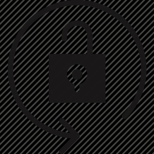 communication, essential, interaction, orientation, unlock icon