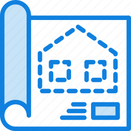 blueprint, communication, essential, interaction icon