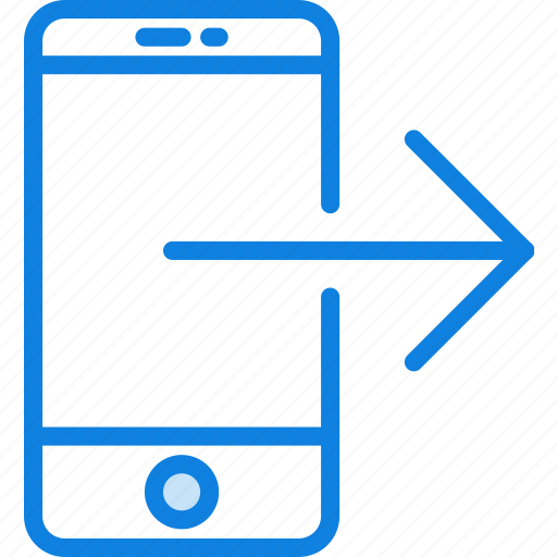 communication, essential, interaction, out, phone, transfer icon