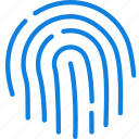 communication, essential, fingerprint, interaction icon