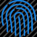 communication, essential, fingerprint, interaction icon